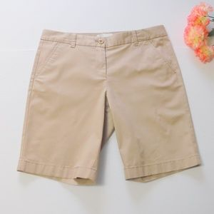 J Crew Tan Bermuda Shorts Size 4